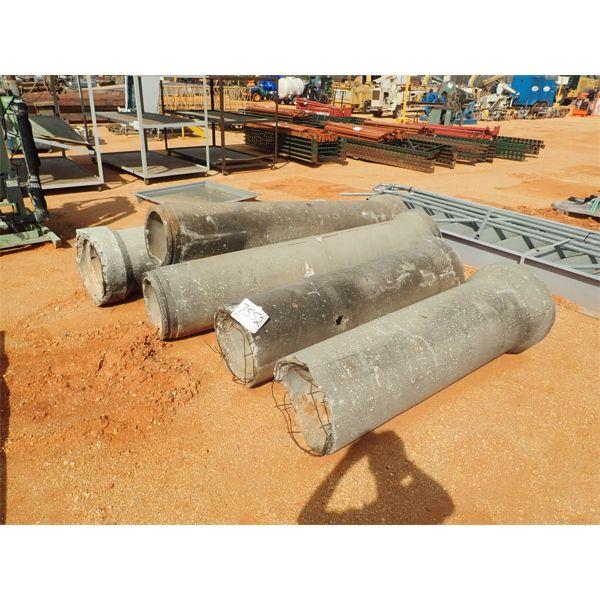 (5) concrete pipes