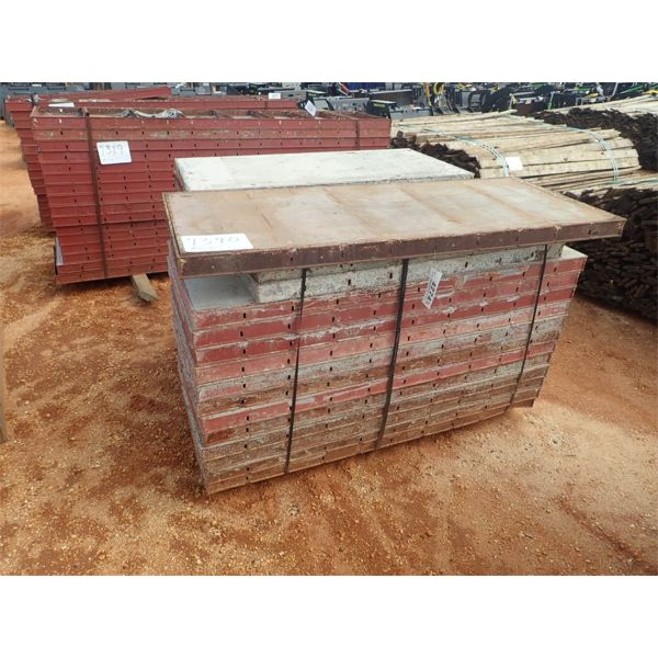 (1) pallet of concrete forms