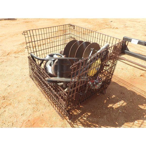 CAT A26 hyd auger w/4 misc size bits