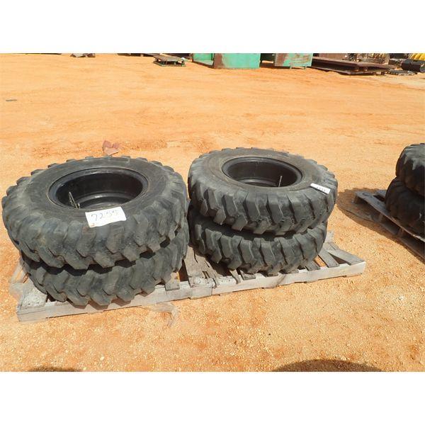(4) 10.00x20 tires & rims