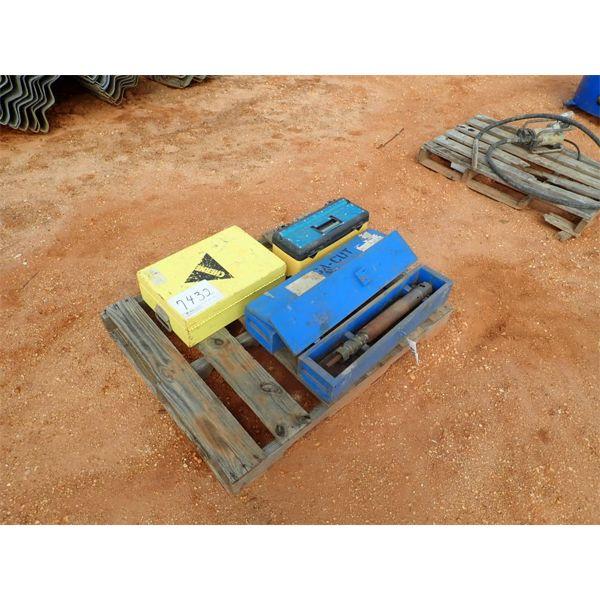 MULLER MEGA CUT  drilling machine w/bits, low pressure, under ground tester