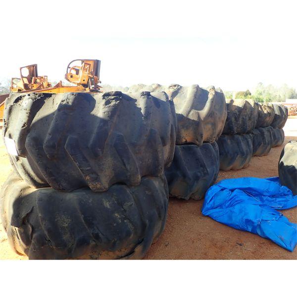 (8) log skidder tires