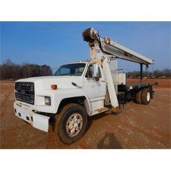 1991 FORD F800 Boom / Crane Truck