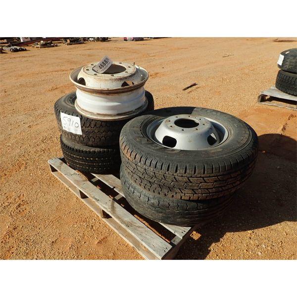 (4) misc size tires w/(1) rim