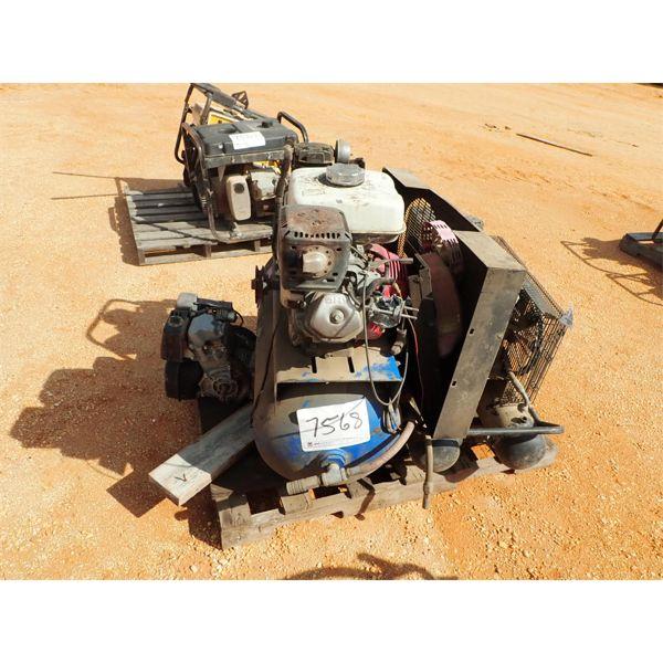 (2) air compressors, gas engine