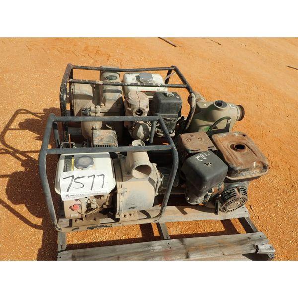 (3) water pumps, gas engine