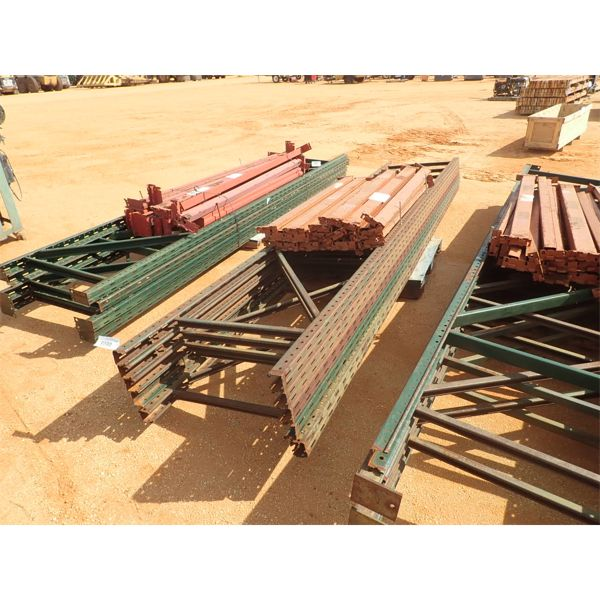 (1) pallet shelving rail w/support post