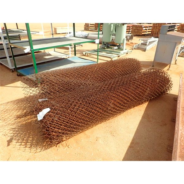 (2) rolls 8' chain link wire fence