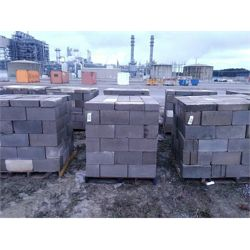 2 pallets of approx. 75 standard core concrete blocks w/ approx. 15 pavers