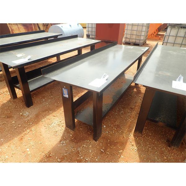 "90"" x 29"" steel workbench/table"