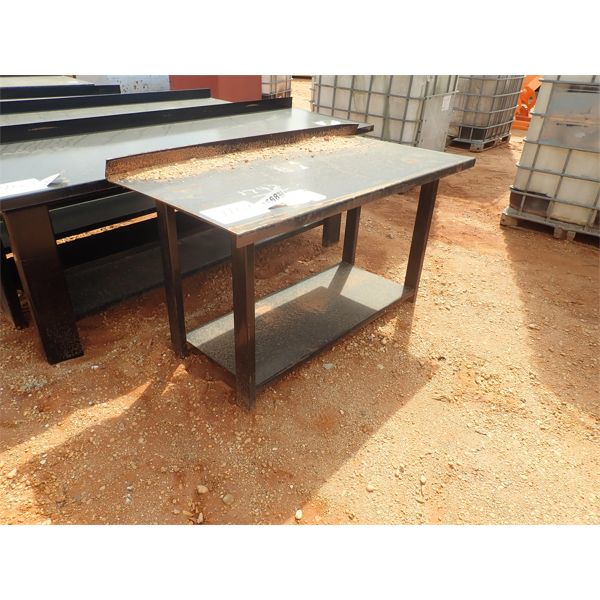 "29"" x 60"" steel workbench/table"
