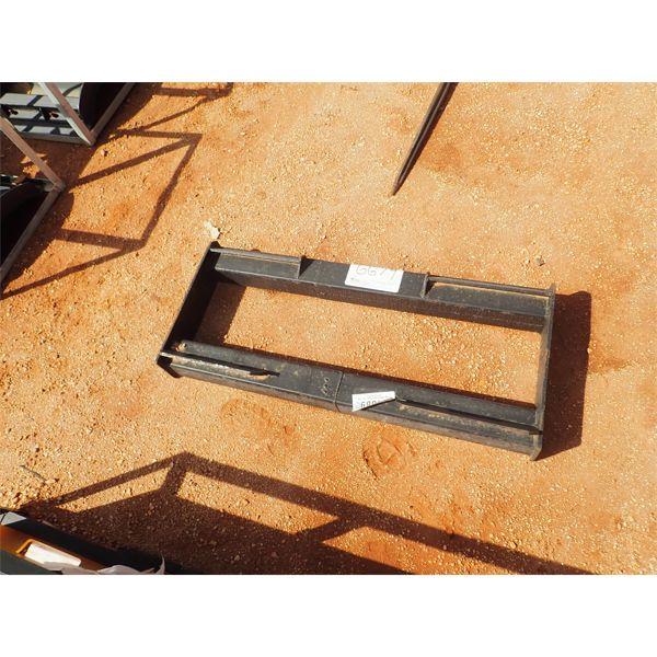 Weld on quick attach frame, fits skid steer loader