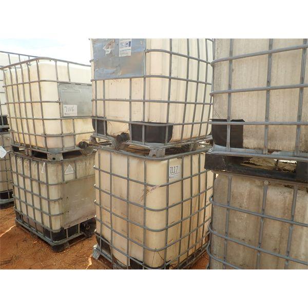 (2) 330 gallon plastic tank w/wire cage