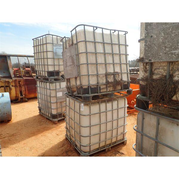 (2) 330 gallon plastic tank w/metal cage