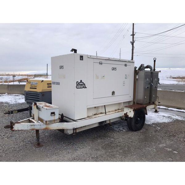 Generator trailer mtd, 70-84 KVA