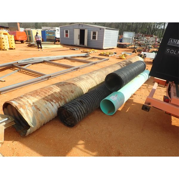 (4) section PVC & Galvanized pipe