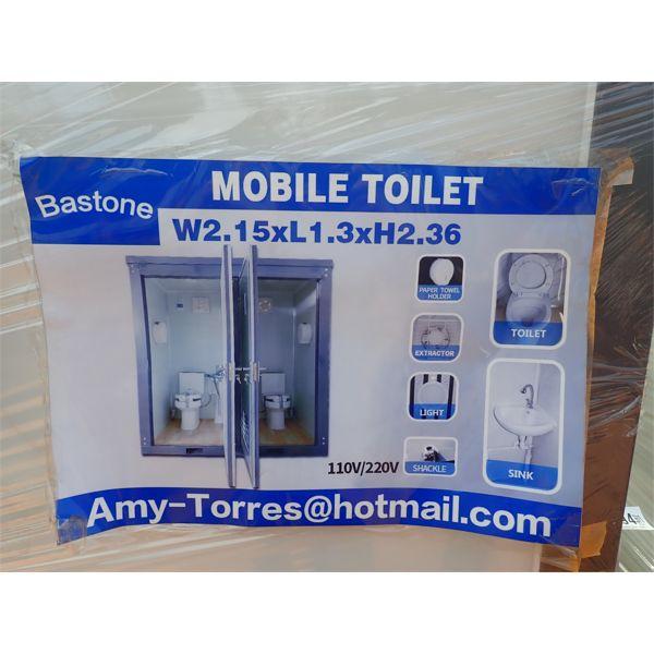 BASTONE  110 volt, portable toilet w/double toilet