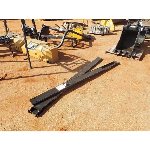 10' extension forks, fits forklift 6600#