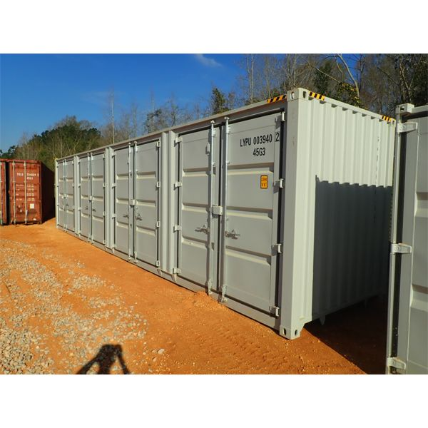 40' steel shipping container w/4 side doors