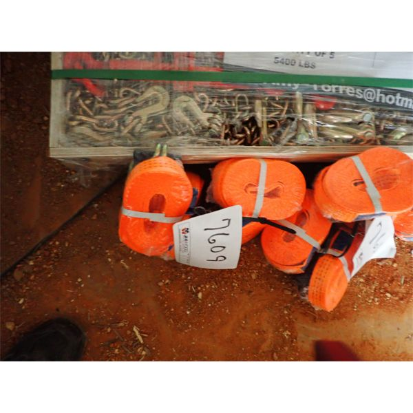 """(4) 1.5"""" x 27' racket tie down strap (IN CONTAINER)"""