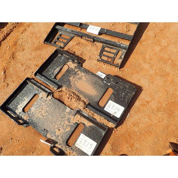 Weld on attach plate, fits skid steer loader