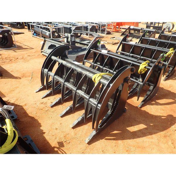 "EXTREME 66"" root rake, fits skid steer loader"