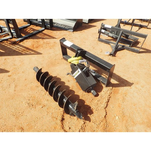 Auger, fits skid steer attachments