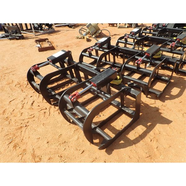 """EXTREME 72"""" HD root grapple, fits skid steer loader"""