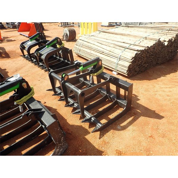 """E SERIES 58"""" root grapple, fits skid steer loader"""