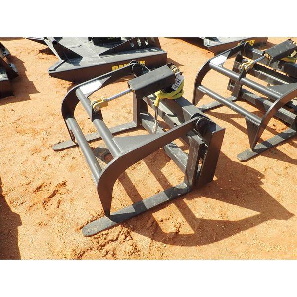 Fork w/grapple, fits skid steer loader