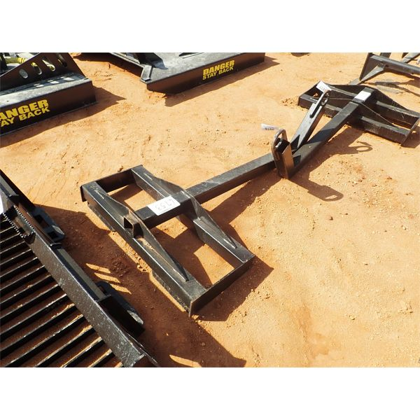 Curved boom lifting pole, fits skid steer loader