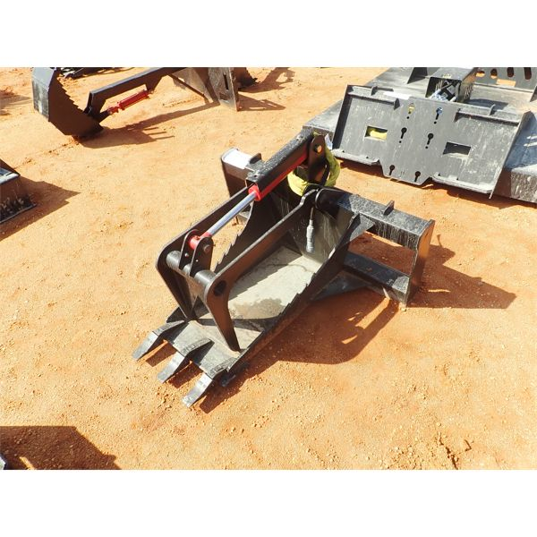 Stump grapple, fits skid steer loader