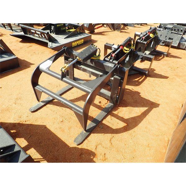 Forks w/grapple, fits skid steer loader
