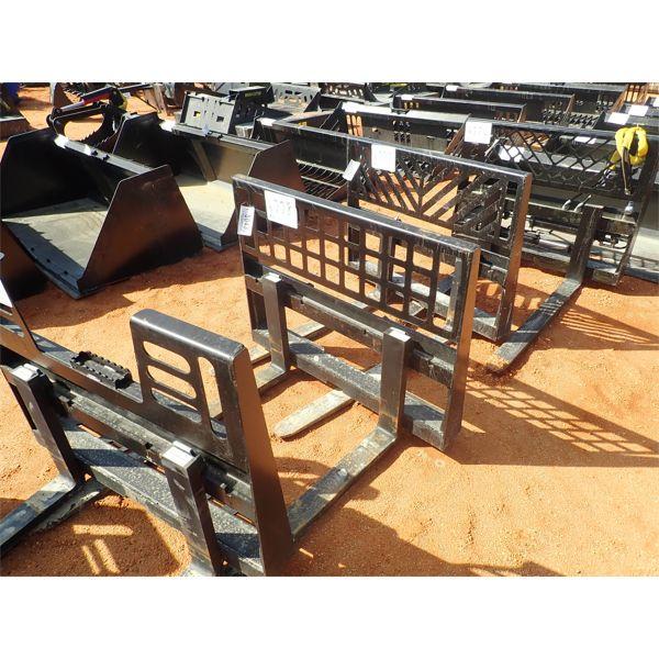 Fork attachment, fits skid steer loader