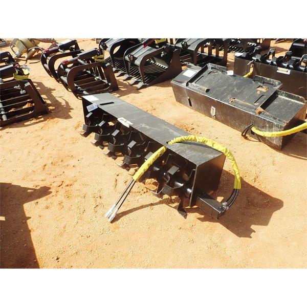 Rotary tiller, fits skid steer loader