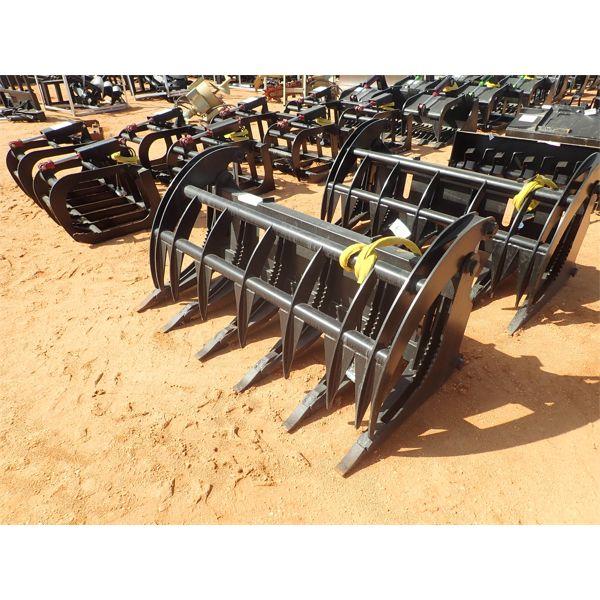 "EXTREME 68"" root rake, fits skid steer loader"