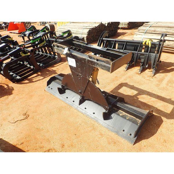 Snow plow, hyd, fits skid steer loader
