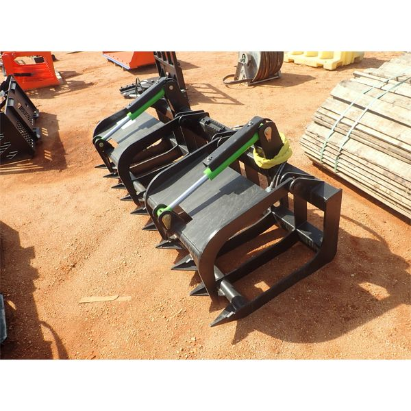 """EXTREME HD 80"""" root grapple, fits skid steer loade"""