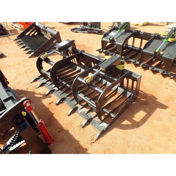 """EXTREME  72"""" rock grapple, fits skid steer loader"""