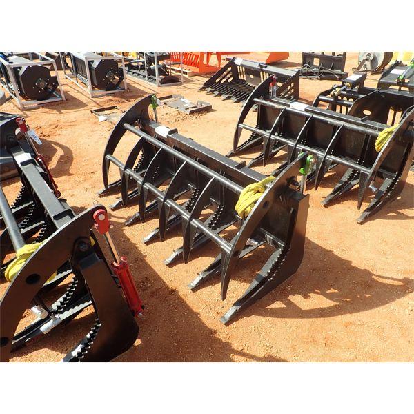 "E-SERIES 72"" root rake, fits skid steer loader"