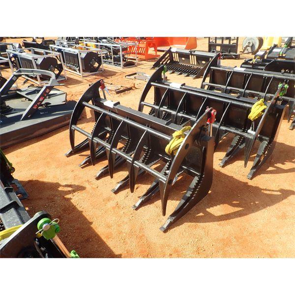"E-SERIES 68"" root rake, fits skid steer loader"