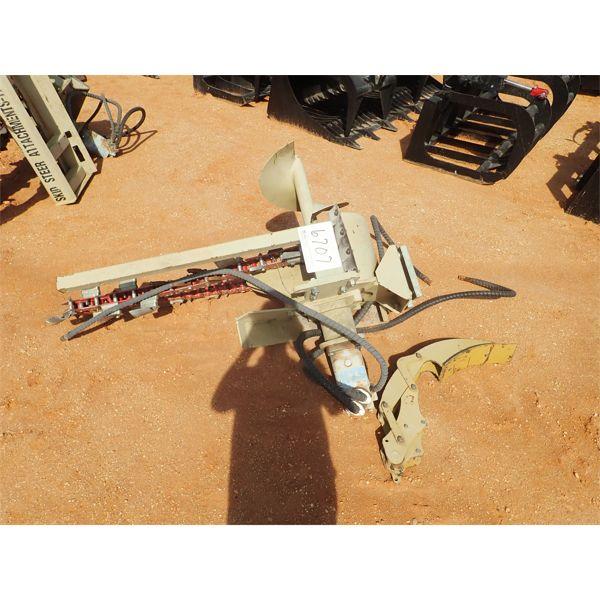 4' & 5' trencher attach, fits skid steer loader