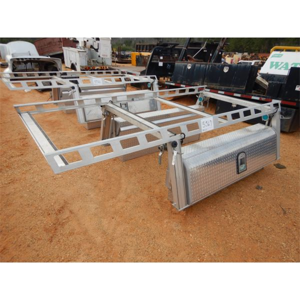 SYSTEM ONE  aluminum tool boxes w/rack
