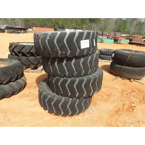 (4) 17.5-25 tires