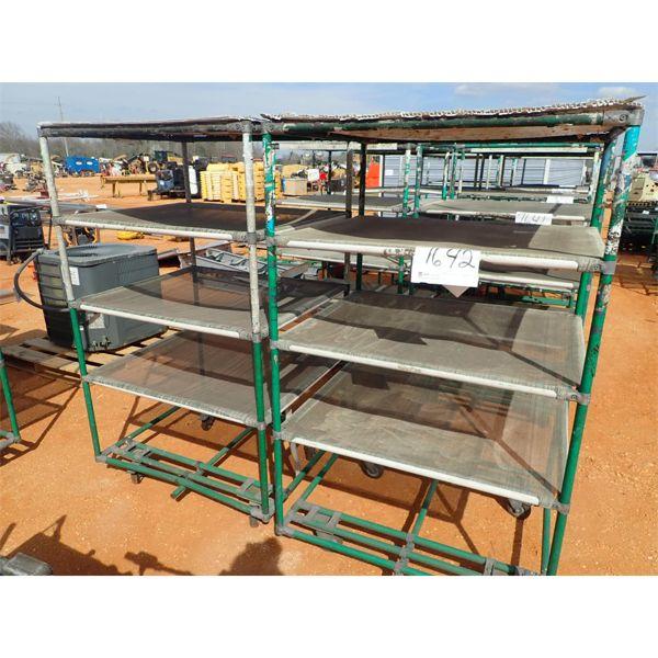 (2) 30x33 carts w/4 shelves