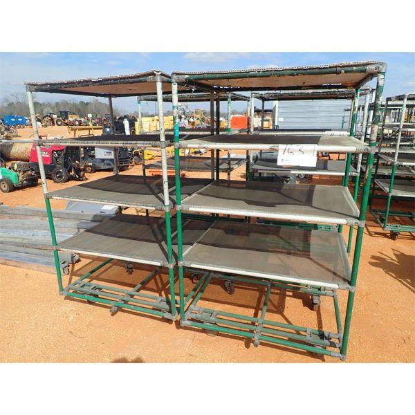 (2) 30x33 carts w/4 fabric shelves