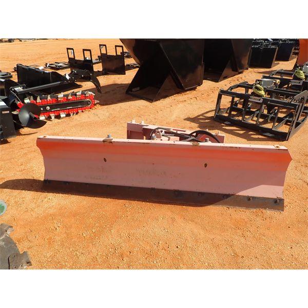8' snow plow, fits skid steer loader