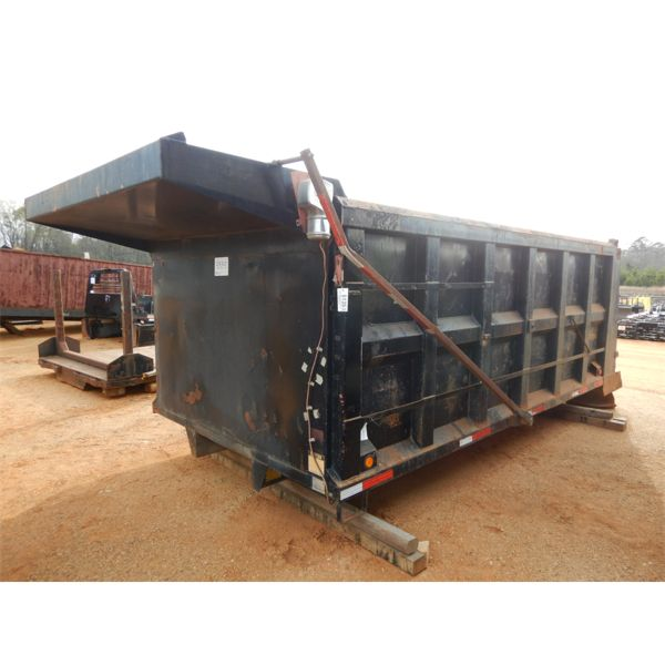 16' Ox bodies dump bed, w/(4) 11R22 tires & rims, lift axle, hyd cylinder, electric tarp