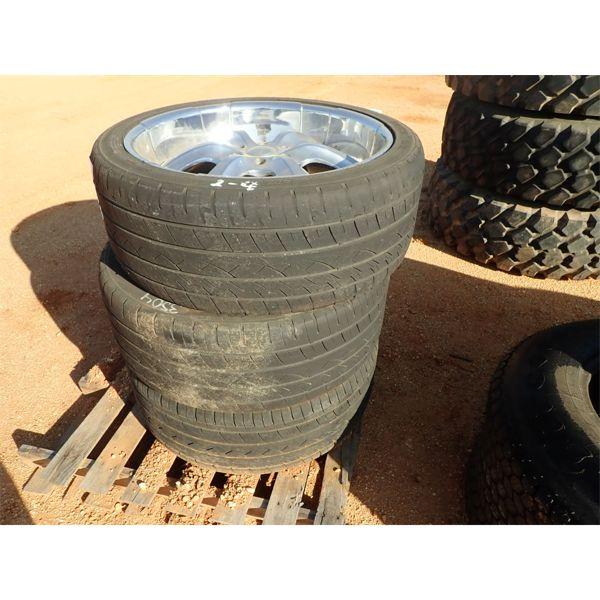 (3) 295/35R24 tire w/chrome rims