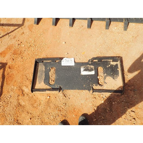 Weld on attachment plate, fits skid steer loader